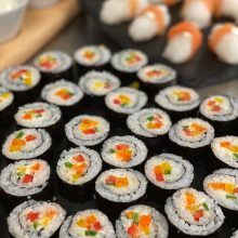 Vegetable sushi- great canapes of finger food to cover lots of the dietary requirements