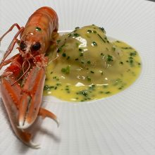 Smoked lobster & langoustine ravioli – from our special Scottish theme menu