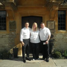 Alan and Karen with Roymond Blanc at Le Manoir aux Quat'Saisons