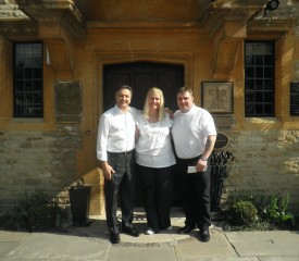 Alan and Karen with Roymond Blanc at Le Manoir aux Quat'Saisons