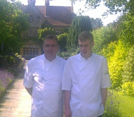 me & ross outside le manoir