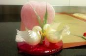 Sugar doves wedding cake top